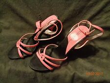 Stermax Womens High Heel Pink Faux Alligator Straps Sz. 7