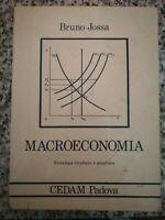 Macroeconomia di Bruno Jossa,  1991,  Cedam -F