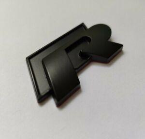 R Line All Matte Black Metal Badge Emblem Sticker for Golf Polo Passat Scirocco