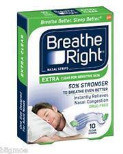 lote 132 BREATHE RIGHT Extra Nasal Tiras TRANSPARENTE Sleep Tecnología