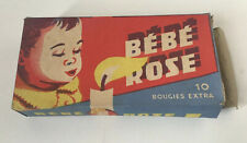 Vintage Retro Bebe Rose Candles Empty Box For Set Decorationg Advertising