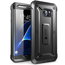 New Galaxy S7 Edge Case SUPCASE  Rugged Holster  Unicorn Beetle PRO Black Cover