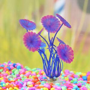10 pcs Aquarium Fish Tank Plastic Plants Decorations Ornaments Plant