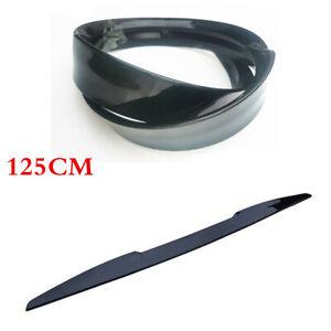 125CM Gloss Black Spoiler Wing for Car Rear Roof Trunk Lip Molding Trim Sticker