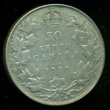 1929 Canada, King George V, Silver Fifty Cent Piece   F240