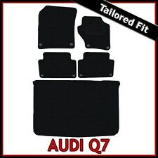 Audi Q7 Mk1 2006-2015 Tailored Fitted Carpet Car Floor & Boot Mats BLACK