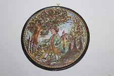 Rare faïence ancienne forme médaillon scène le Petit Poucet, Nevers ? Italie ?