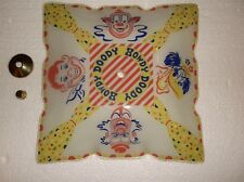 VINTAGE RARE 50'S HOWDY DOODY GLASS CEILING LIGHT SHADE--KARGRAN 1487 LITHO