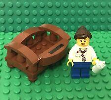 Lego MOC Baby Crib Bed With Female Doctor Nurse Mini Figure With Feeding Bottle