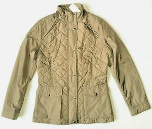 Womens Polo Golf Ralph Lauren Quilted Anthem Coat Jacket Olive Green RRP £200