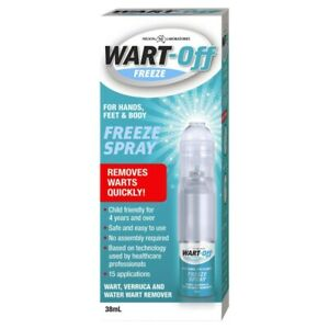 Wart-Off Freeze Spray 38mL Removes Warts Quickly for Hands, Feet & Body