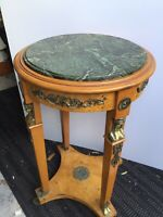 Egyptian Marble Top Side Table