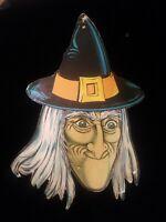 "Rare Vintage HUGE Beistle Witch 26"" Die-Cut Halloween Hanging Decoration Look!!"