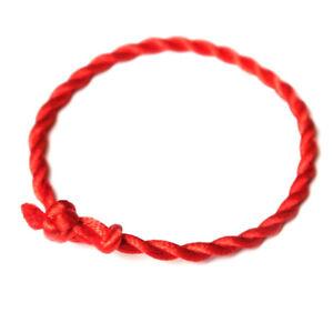 Kabbala Armband mit dem roten Faden, rot, einfach geknotete Kordel