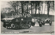 Original postcard RP military Howitzer & dragon WWII Valentines (A3)