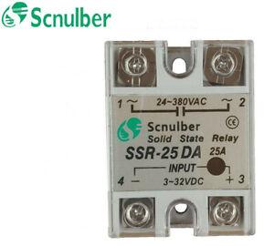 Scnulber solid state relay SSR-25DA 25A DC control AC