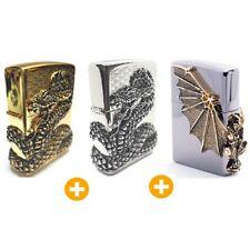 Zippo Snake Coil GD + NI + Gargoyle2 GD Lighter Genuine Original Packing (3Pcs)
