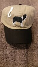 Nwt Gr8 Dog border collie Hat Embroidered Strapback Adjustable Ships In Box