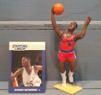 DANNY MANNING 1988 STARTING LINEUP OPEN LA CLIPPERS + CARD 1ST ISSUE