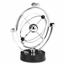 Perpetual Motion Desk Sculpture Toy - Kinetic Art Galaxy Planet Balance Mobil HM