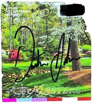 2020 Masters Badge Signed By Dustin Johnson Champion!