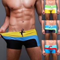 Mens Swimwear Surf Board Beach Wear Swim Trunks Boxer Brief Shorts Trunks Summer