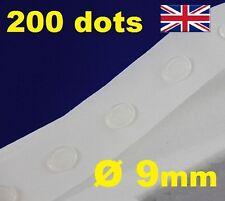 Nuevo 200 Pegamento Dots Sticky Craft Transparente tarjeta haciendo chatarra extraíble 9mm fácil Tack