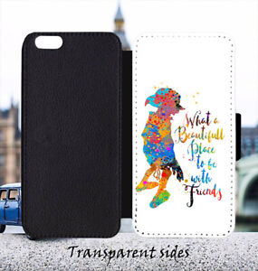 Dobby Elf Quote Leather Flip Wallet Phone Case Cover