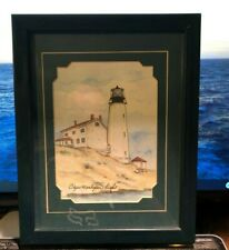 """""""CAPE HENLOPEN LIGHT"""" by Donna Elias part of """"Great American Lighthouses"""""""