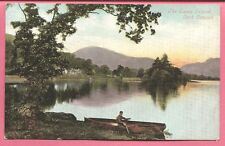 The Swan Island, Loch Lomond, Scotland postcard. Valentine's Series.