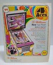 4 Aces Pinball FLYER Original 1970 Williams Game Artwork Sheet Playing Cards