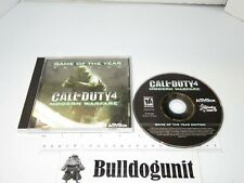 2007 Call of Duty 4 Modern Warfare PC Game of Year GOTY Windows