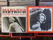 MARLENE DIETRICH 2 x DDR AMIGA LP: SINGT ALTBERLINER LIEDER & HALLO MARLENE