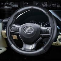 "Universal Size M 38cm 15"" Carbon Fiber Car Steering Wheel Cover For Lexus Series"