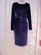 River Island Blue Velvet Look Dress Size 10