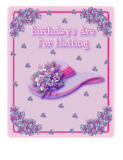 """4X PINK T SHIRT """"BIRTHDAYS ARE FOR HATTING"""" PINK HAT TEE  FOR LADIES OF SOCIETY"""