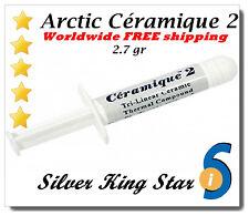 Arctic Silver Ceramique 2 2.7g Thermal Heatsink Cooling Paste Artic Ceramic 5
