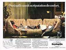 PUBLICITÉ  1970   ATELIER DUNLOPILLO    canapé création  BERNARD GOVIN