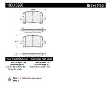 Disc Brake Pad Set-Rear Disc Front Centric 103.10280