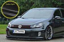 Spoilerschwert Frontspoiler ABS für VW Golf 6 GTI GTD ED35 ABE Carbon Optik