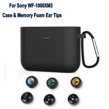 For SONY WF-1000XM3 Memory Foam Ear Tips Buds & Silicone Protective Case Cover