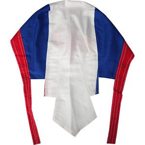 France Flag Bandana Biker Motorcycle Motorbike Chef Hat Cap French Head Scarf