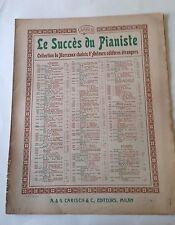 D30> Vecchio spartito - Le Siccès di Pianiste - Pasquinade