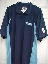 ICEBOX Penguin Men Embroidered Sewn Navy Blue Short Sleeve Polo Shirt Game
