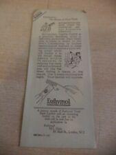 OLD VINTAGE BOOKMARK euthymol toothpaste civilisation chemist advert advertising