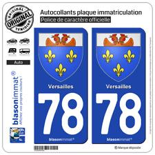 2 Blasonimmats plaque immatriculation | 78 Versailles - Armoiries | 78000