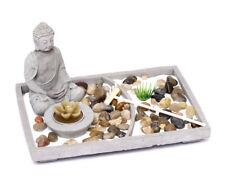 Zen Giardino Set Giapponese Pietra con Buddha Figura da Cemento Decorazione