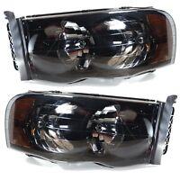 2x Scheinwerfer Vorne Rauch Smoke Dodge RAM 1500 2002-2005 Headlights Headlamps