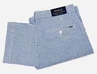 Polo Ralph Lauren Men's Seersucker Stretch Classic Fit Pants In Blue/White