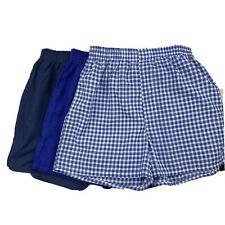Fruit of the Loom Boys Blue Fly Front  Tag Free Boxer Shorts 3 Pack XL